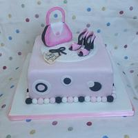 Handbag and shoes cake by Marge