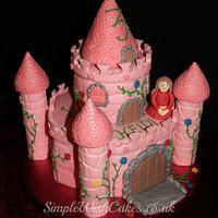 Pink Castle Birthday Cake