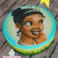 Princess Airbrush Cake