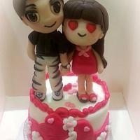 Buddypoke anniversary, taller than 20cm by Mary Ciaramella (Sugar Love & Passion)