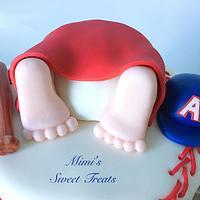 Baseball Baby Shower Cake by MimisSweetTreats