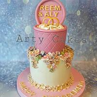 Engagement cake by Arty cakes