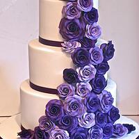 Classic cadbury purple wedding cake :)