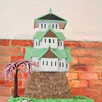 Japanese Castle wedding cake