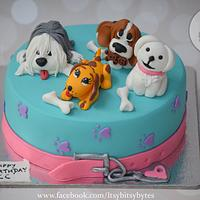 A birthday cake for a dog lover