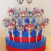 Mario and Sonic Cake Pop Display