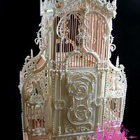 Vintage Birdcage Royal Icing