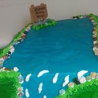 fishing cake by Julia Dixon