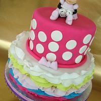 Minnie Mouse Ruffle Cake