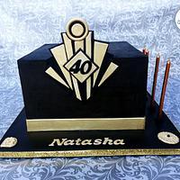 The Great Gatsby  Cake: Black Coloured Ganache