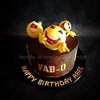 Laughing emoji cake