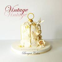 Vintage cage cake
