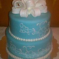 Wedgwood Themed Birthday Cake by CakeEnvy