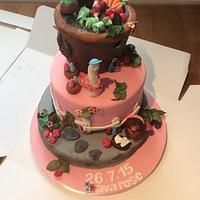 Beatrix potter inspired christening cake