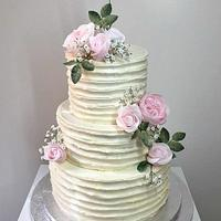 Meringue cream wedding