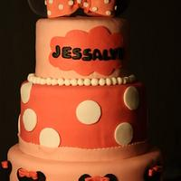 Minnie Mouse cake by Chaitra Makam