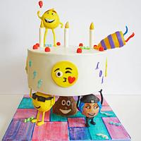 Gravity Defying Emoji Cake