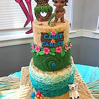 The Sunshine Girls and Moana Cake by Ann-Marie Youngblood
