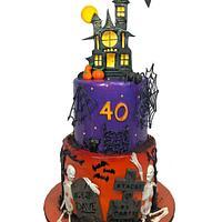Halloween 40th Birthday cake