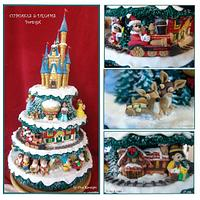 MY MAGICAL CHRISTMAS CAKE...MY CHRISTMAS STORY CAKE