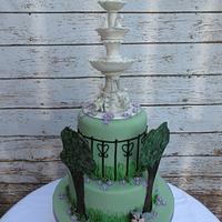 Victoria Fountain Cake