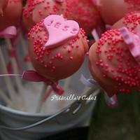 Pink vanilla cakepops by Priscilla's Cakes