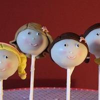 girls cake pops
