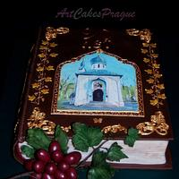 Book with hand painting