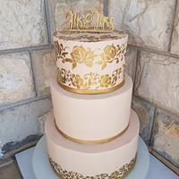 Wedding stencil cake