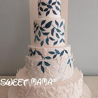 Leaves and chillies wedding cake