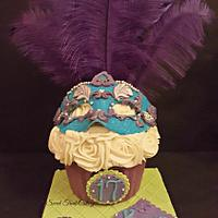 Masquerade giant cupcake