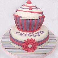 giant cupcake for a little babe