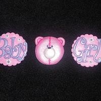 Baby shower Cupcake Toppers by Raewyn Read Cake Design