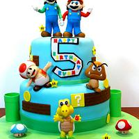 Mario Brothers  by BellaCakes & Confections
