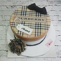 Burberry Gift Box Cake