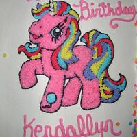 My lil pony b-day cake