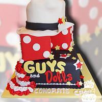 Guys and Dolls High School Production Cake by FaithfullyCakes