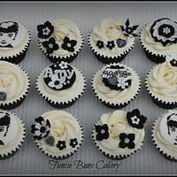 Audrey Hepburn inspired Cupcakes