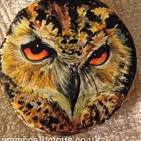Handpainted Eagle on a cookie