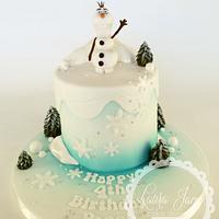 Olaf Frozen Cake