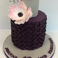 Ruffle Birthday Cake