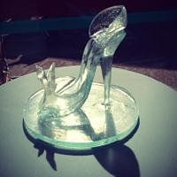Not really a cake, but sugary! Isomalt Cinderella slipper