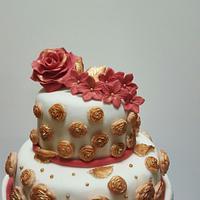 Flower rose cake