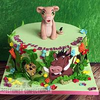Olivia - Lion King Birthday Cake