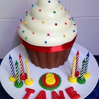 pinata giant cupcake cake