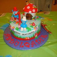 Smurfday cake