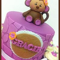 Monkey baby shower by Hot Mama's Cakes