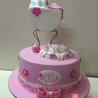 Baby Aria Christening Cake