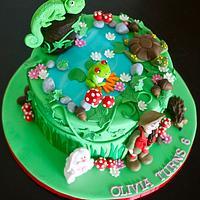 Reptile theme cake