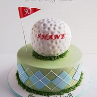 Shane's Golf Cake